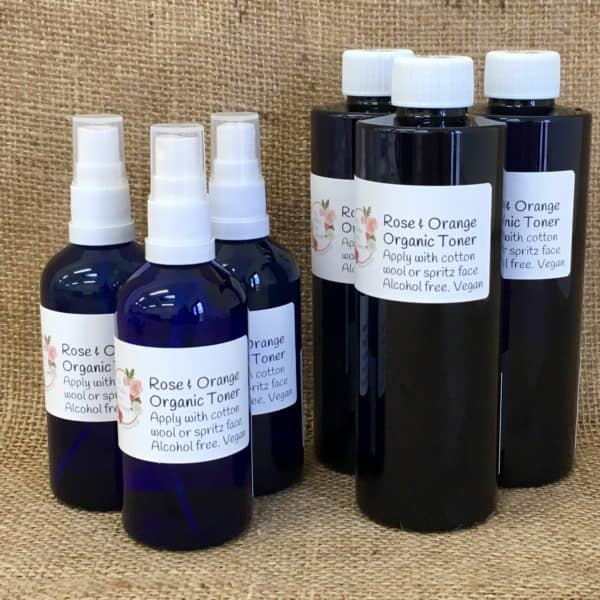 Rose and Orange organic toner from The Maldon Soap Company
