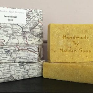 Purely local soap is the most local soap money can buy - as long as you live in Essex! A perfect local present wrapped in a local map of  Essex with Maldon bang in the middle because that's where most of it is from!