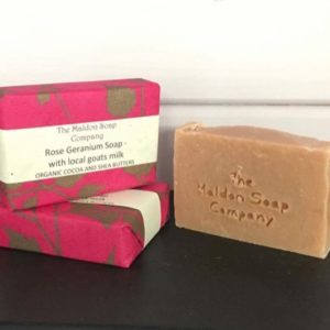 Rose Geranium Soap - with local goats milk