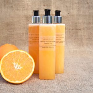 Orange and Patchouli shower gel