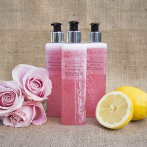 Rose and Lemon shower gel pic