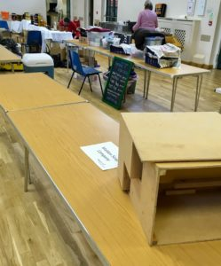 My 10' table at Coggeshall