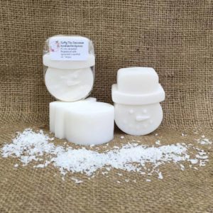 Softy the Snowman soap from The Maldon Soap Company