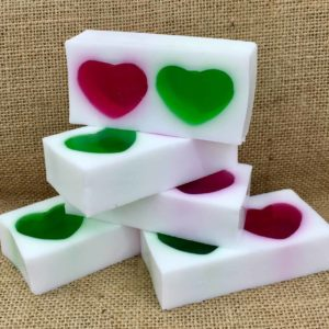 Raspberry and Apple soap from the Maldon Soap Company
