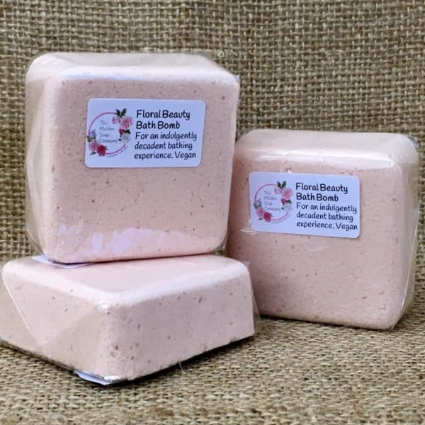 Floral beauty bath bomb from The Maldon Soap Company