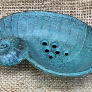 cast iron soap dish sold by The Maldon Soap Company