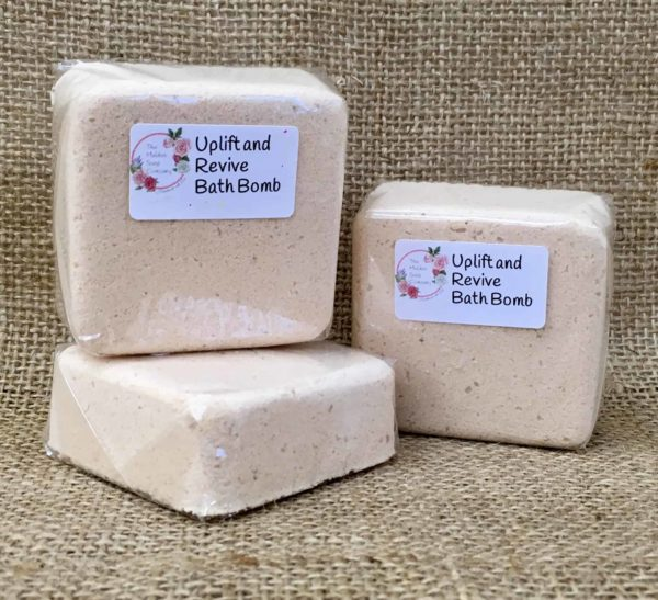 Uplift and revive bath bomb from the Maldon soap company