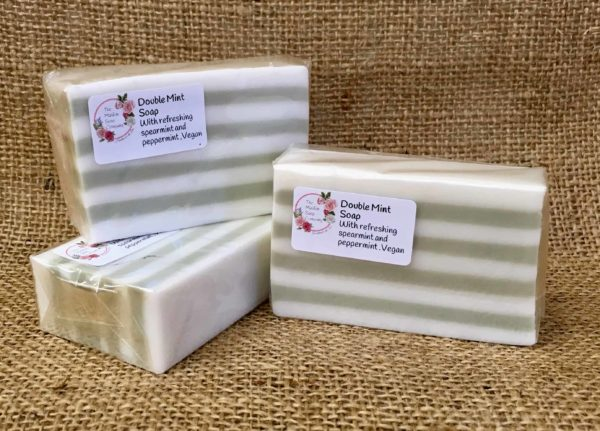 Double mint soap from The Maldon soap company