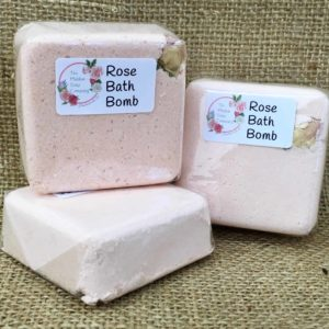 Pure Rose Luxury Bath Bomb from The Maldon Soap Company