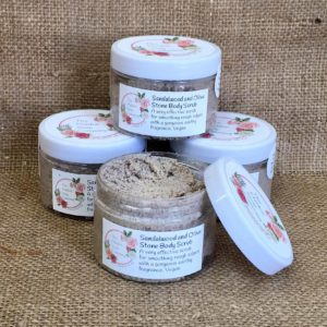 Sandalwood and Olive Stone Body Scrub From The Maldon Soap Company
