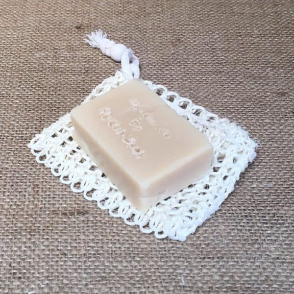 exfoliating sisal soap bag from The Maldon Soap Company