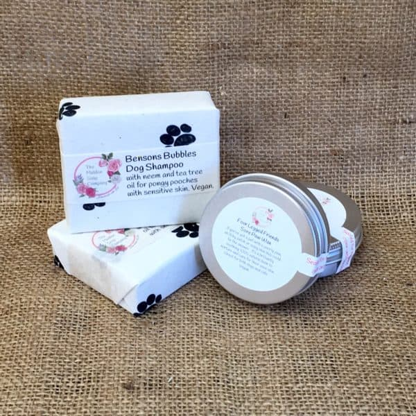 Pet shampoo and paw wax bundle from The Maldon Soap Company