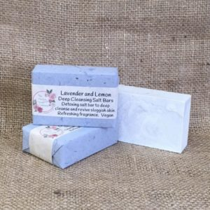 Lavender and Lemon Salt Bars from The Maldon Soap Company