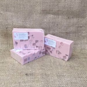 Rose geranium soap from The Maldon Soap Company