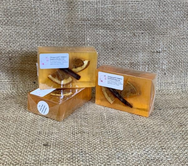 Orange and Cinnamon soap from The Maldon Soap Company