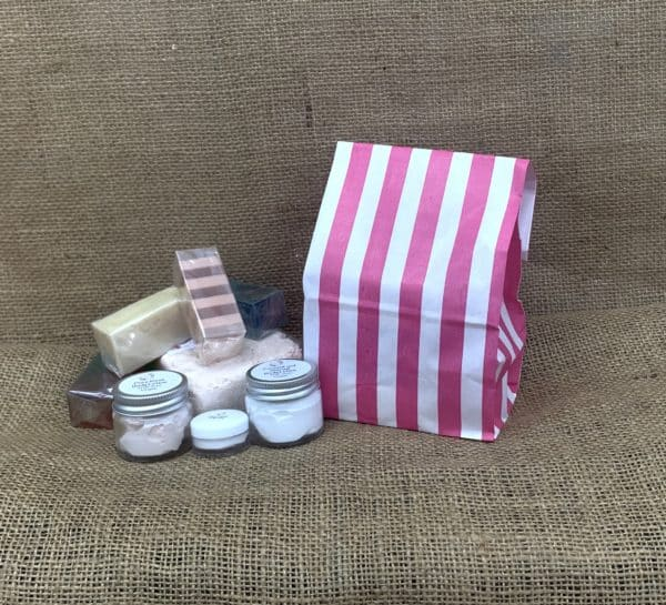 Surprise goody bags from The Maldon Soap Company