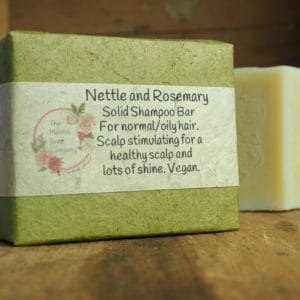 Nettle and rosemary solid shampoo from The Maldon Soap Company