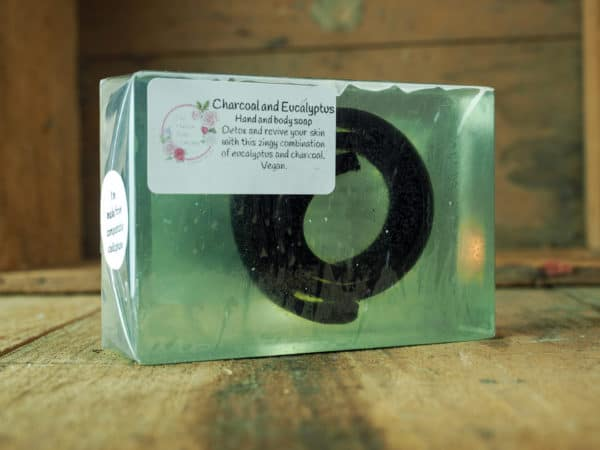 Charcoal and Eucalpytus Soap. Detoxing, uplifting soap from The Maldon Soap Company