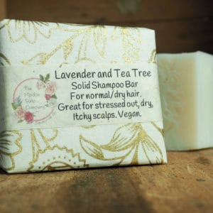 Lavender and Tea Tree Solid Shampoo from The Maldon Soap Company