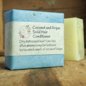 Coconut and Argan Solid Hair Conditioner Bar from The Maldon Soap Company