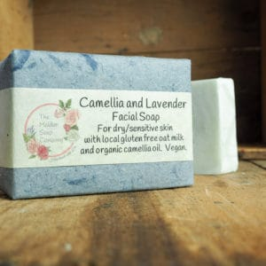 Camellia and Lavender facial soap from The Maldon Soap Company