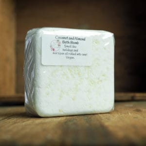 Coconut and Almond Bath Bomb from The Maldon Soap Company