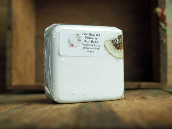 LIme, Basil and Mandarin Bath Bomb from The Maldon Soap Company