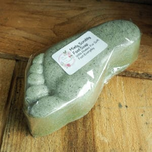 Minty, scrubby foot soap from the Maldon Soap Company