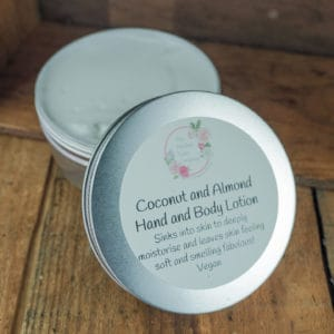 Coconut and Almond hand and body lotion from The Maldon Soap Company