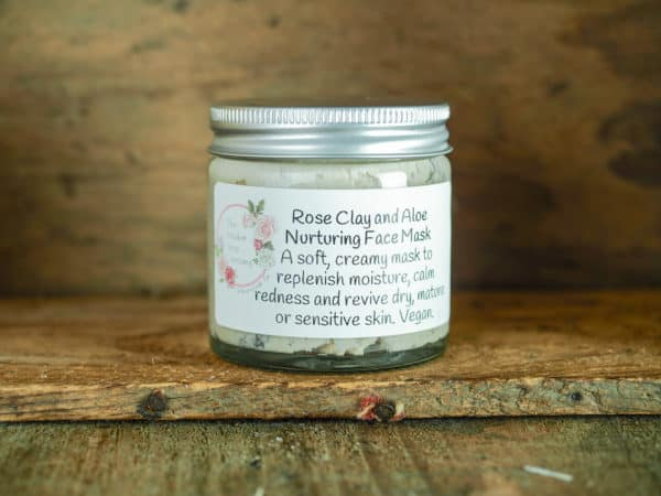 Rose clay and aloe nurturing face mask from The Maldon Soap Company
