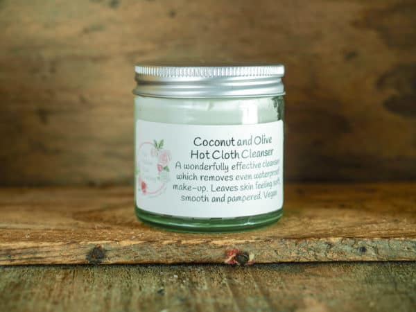 Coconut and olive hot cloth cleanser from The Maldon Soap Company