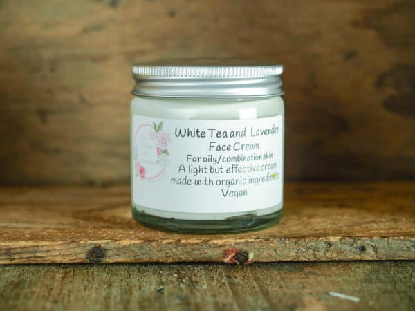 White tea and lavender face cream from The Maldon Soap Company