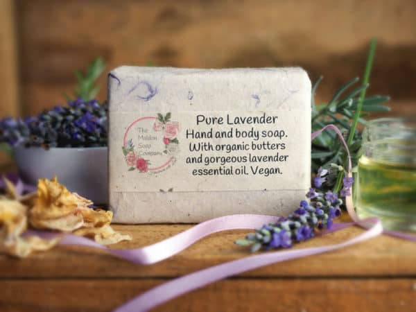 Pure Lavender Hand and Body Soap from The Maldon Soap Company