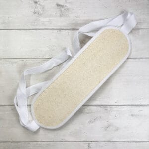 Loofah back scrubber from The Maldon Soap Company