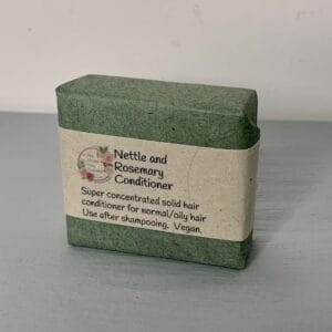Nettle and rosemary solid hair conditioner from The Maldon Soap Company